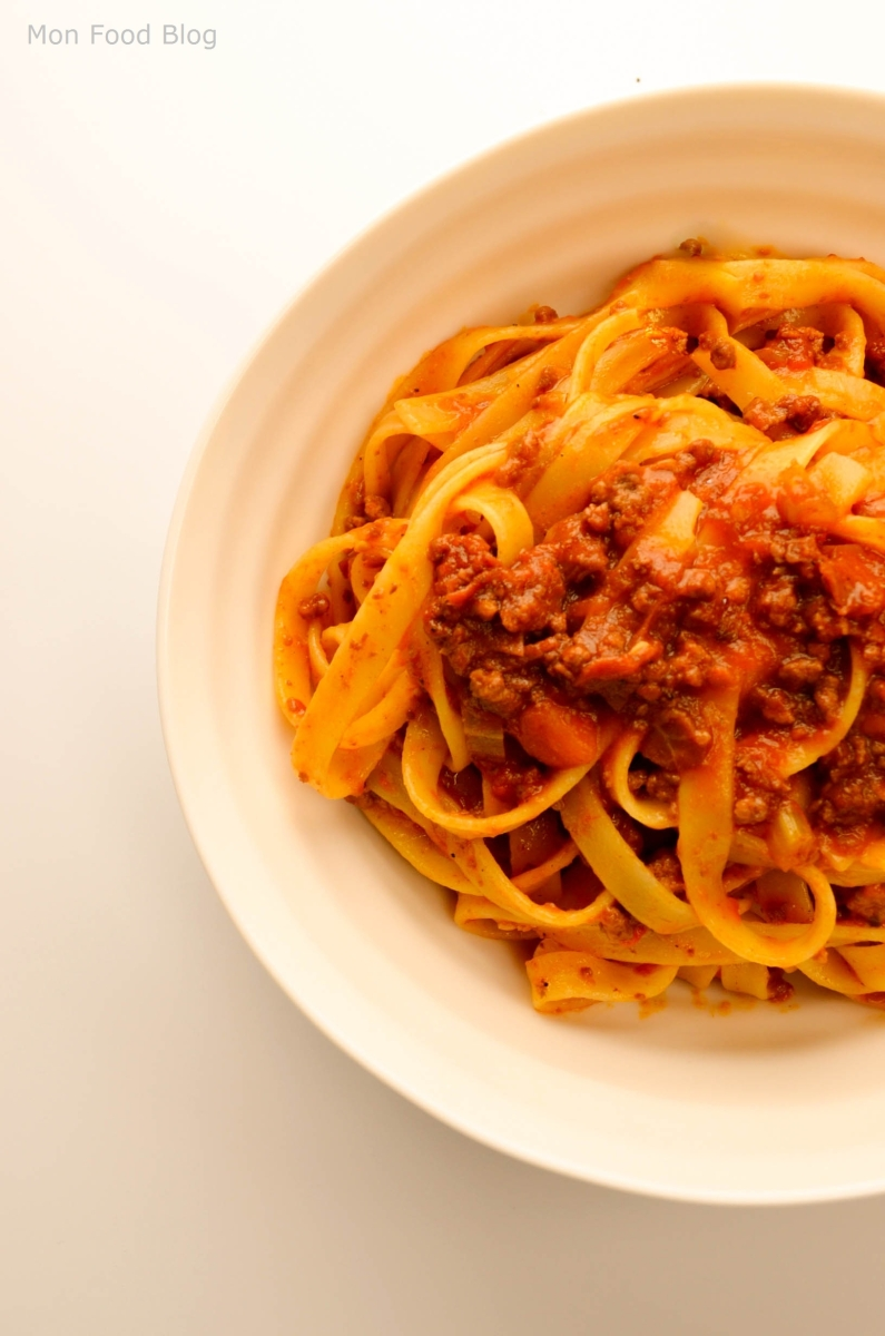 Fettuccine with Roman ragù