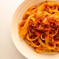 Fettuccine with Roman ragù