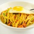 Spaghetti with zucchini andsausage
