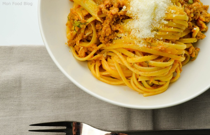 Linguine with sausage and fennel