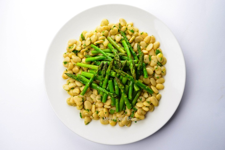 Asparagus and lima bean salad