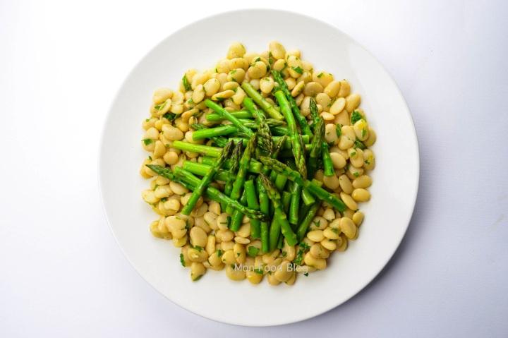 Asparagus and lima bean salad