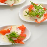 Smoked salmon with horseradish crème fraîche