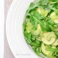 Zucchini, celery and arugulasalad