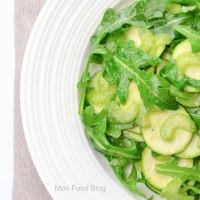 Zucchini, celery and arugula salad