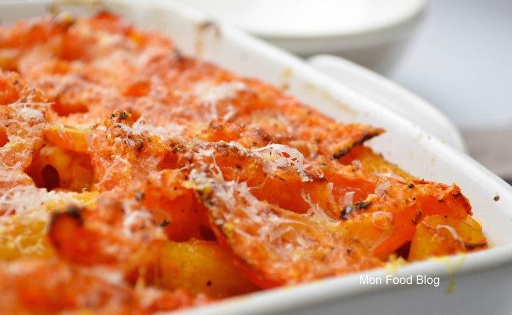 Rigatoni e pomodori al forno