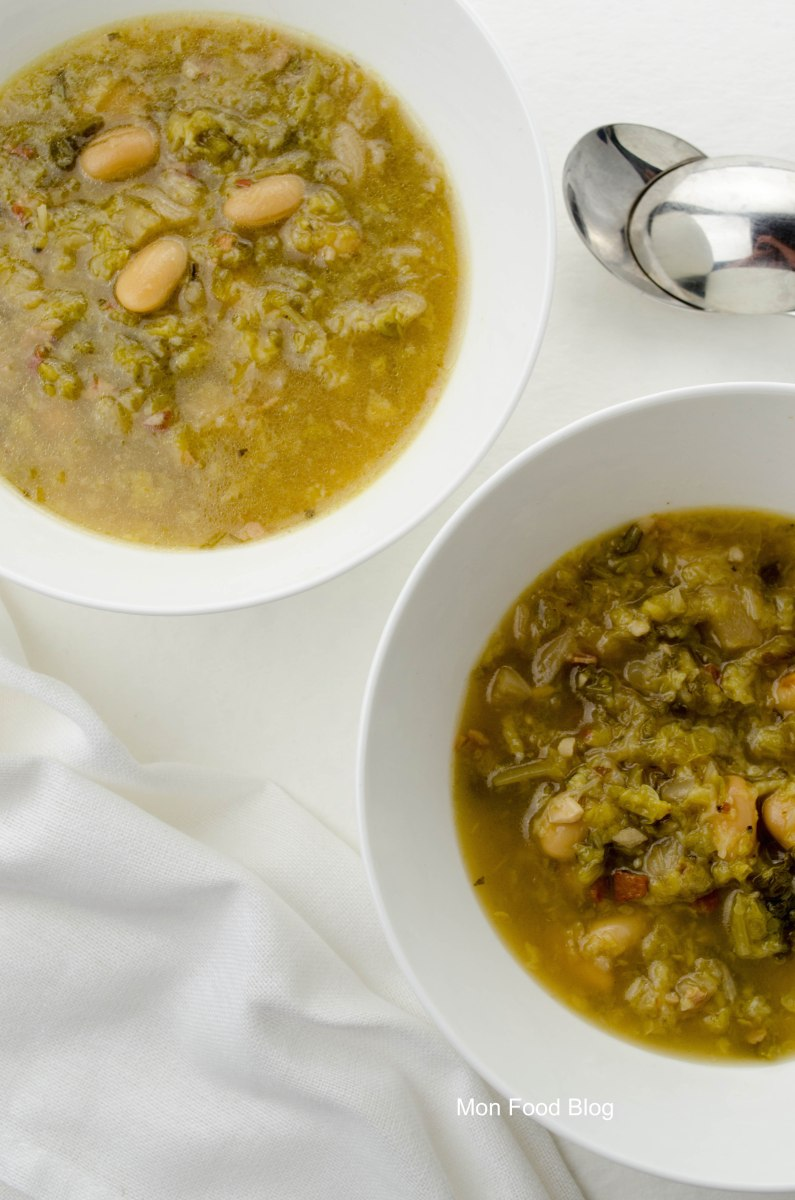 Cabbage and cannellini bean soup