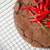 Chocolate and hot pepper cake