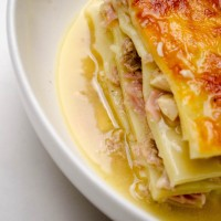 Lasagna in broth